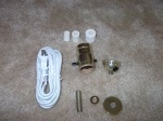 The contents of the lamp kit.